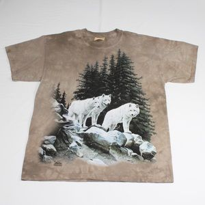 Vintage The Mountain White Wolf Pack Nature Tshirt